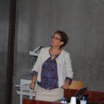 Elisabeth Vergès (Directrice du LABEX VOLTAIRE) présentant le Centre International de Prospective sur l'Emploi en Géosciences et Environnement