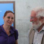 Renata Zocatelli (ISTO, Orléans) et Pr. Geoffrey Eglinton (Bristol, UK)