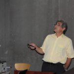 Pr. Christian DiGiovanni (Orléans) présentant un panorama des formations en géochimie organique en France.